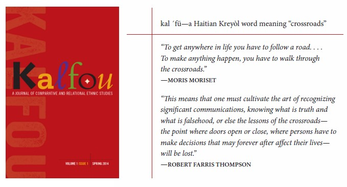 Kalfou book cover and its Haitian Keryol definition meaning crosswords